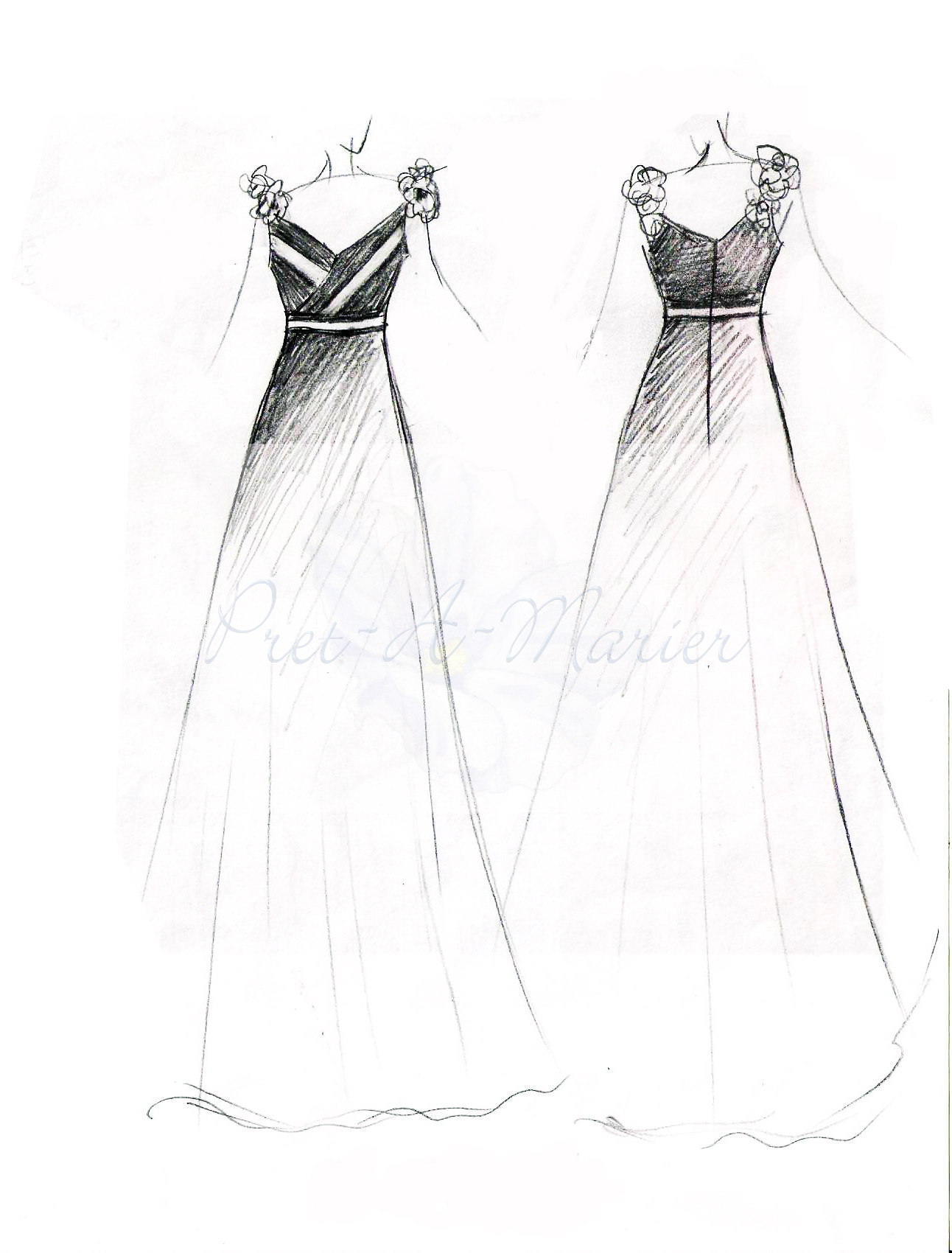 Gallery For gt Dress Designs Drawings 2012